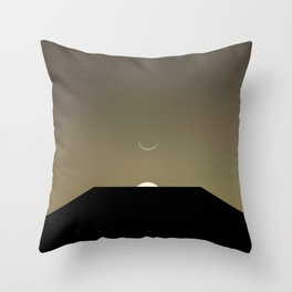 2001 Space Odyssey Minimal Dawn of Man Monolith Alignment Throw Pillow