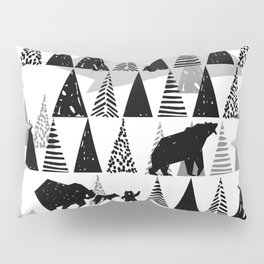Black and white Forest Pillow Sham