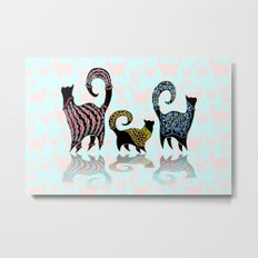 CASHMERE CATS Metal Print