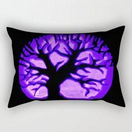 Happy HaLLoWeen. Brain Tree : Purple Rectangular Pillow