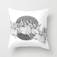 Leporidae Throw Pillow