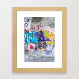 Look Both Ways Framed Art Print