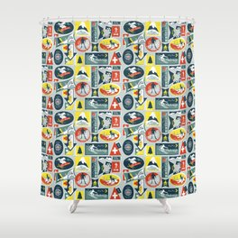 Ski Patches Shower Curtain