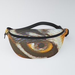 Real Tiger Eye! Up Close and Very Personal Fanny Pack