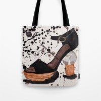 shoe Tote Bags featuring Shoe by Melania B