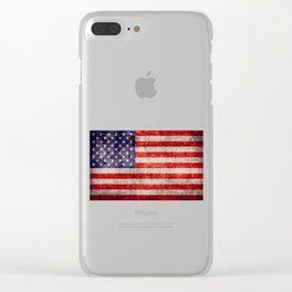 Antique American Flag Clear iPhone Case