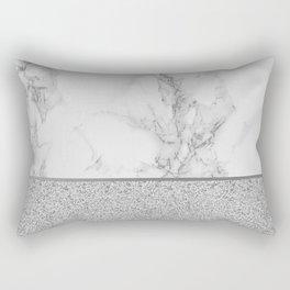 Marble + Glitter #1 Rectangular Pillow