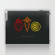 Eat Real Food. (dark) Laptop & iPad Skin