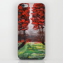 Red Tree Forest <3 iPhone Skin