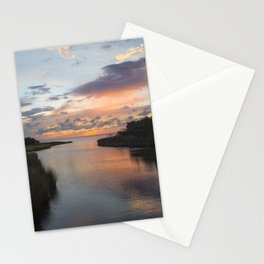 Sound Side Sunset Stationery Cards