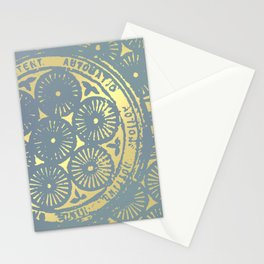 power of one: coal grey & gold Stationery Cards