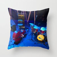 mortal instruments Throw Pillows featuring Instruments by Mauricio Santana