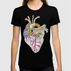 my heart is real Black Womens Fitted Tee SMALL
