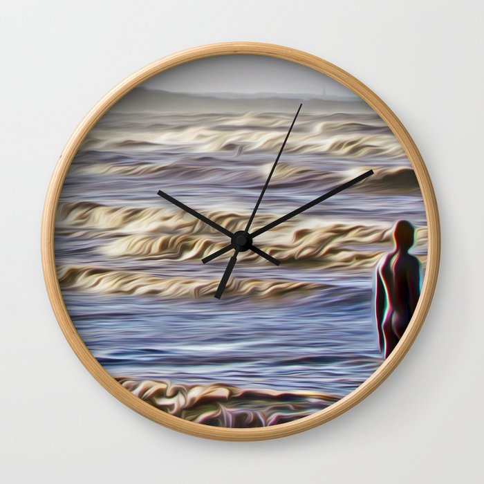Stormy Day (Digital Art) Wall Clock