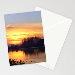 Sunrise by the River Stationery Cards