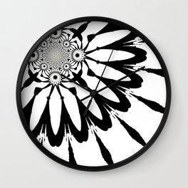 The Modern Flower White & Black Wall Clock