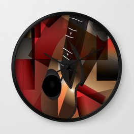 Man in red playing the guitar Wall Clock