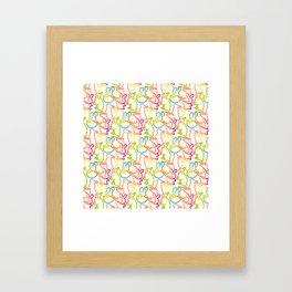 Cute Bunnies Framed Art Print