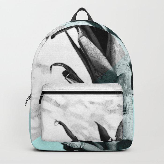 Pineapple Top Marble Pastel Blue Backpack