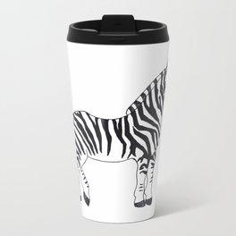 Zebra Stan Metal Travel Mug