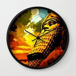 Lamassu Left Wall Clock