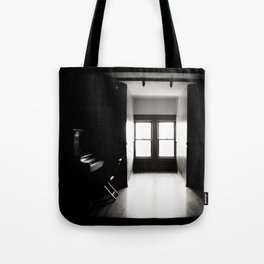i live in a haunted house Tote Bag