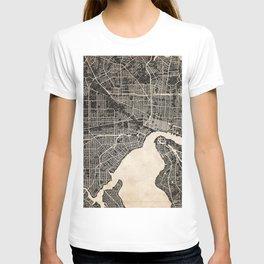 JACKSONVILLE map Florida ink lines T-shirt