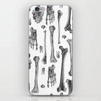 bones iPhone & iPod Skins featuring Bones by Deborah Panesar Illustration