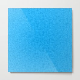 Blue Concentric Octagons Pattern Metal Print