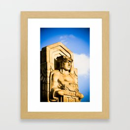 Statue On Hope Memorial Bridge I Framed Art Print