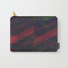 Glitch Pattern Desert Landscape Carry-All Pouch