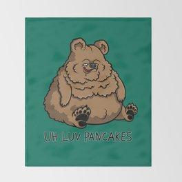 Pancake-Eating Bear Throw Blanket