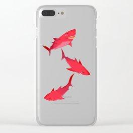 Sakura Shark Clear iPhone Case