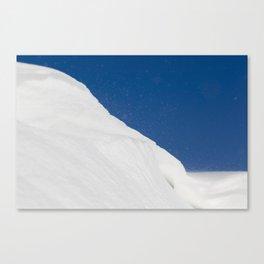 white uneven snowdrift Canvas Print