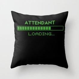 Attendant Loading Throw Pillow