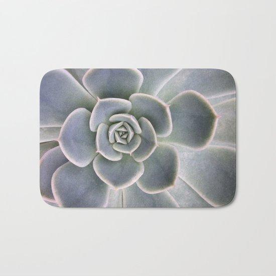 Succulent Leaf Close Up Photography | Plant | Cactus | Botanical Bath Mat