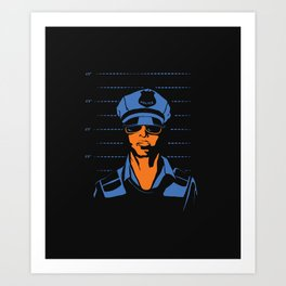 Dirty Cop Mugshot Police Brutality Art Print Art Print