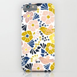 Wellness garden – florals matching to design for a happy life iPhone Case