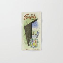 Vintage poster - Sun Valley, Idaho Hand & Bath Towel