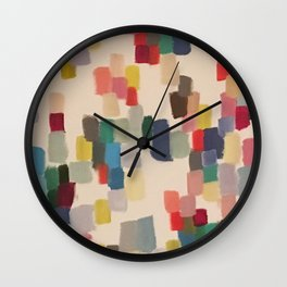 Colorful happy cheerful abstract painting Wall Clock
