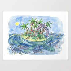 I'm On An Island Art Print