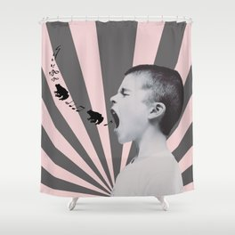 SINGING FROGS Shower Curtain