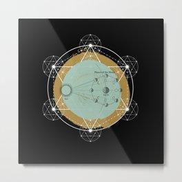 BLACK IN SPACE Metal Print