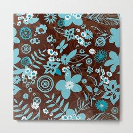 Floral wallpaper Metal Print
