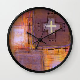 sometimes it's like that - abstract painting Wall Clock