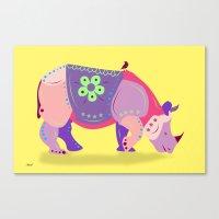 rhino Canvas Prints featuring Rhino by mark ashkenazi