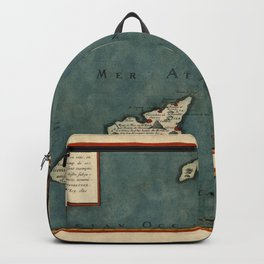 Map Of Canary Islands 1563 Backpack