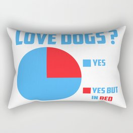 Love dogs? Rectangular Pillow