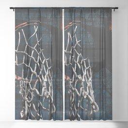 Modern basketball art cx 5 Sheer Curtain