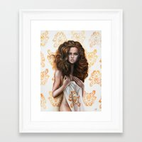 siren Framed Art Prints featuring siren by Steven Bossler